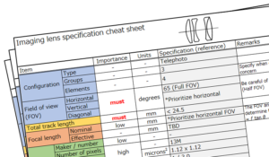 "How to use a specification ""cheat sheet"" for your lens design."